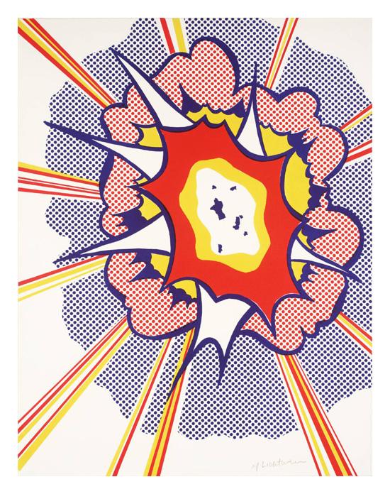 Explosion 1965-6 by Roy Lichtenstein 1923-1997